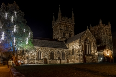 The Wimborne Minster at Christmas